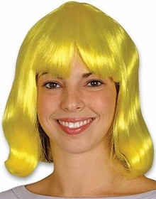 Long Hair Costume Wig (Yellow)