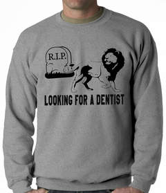 Looking for a Dentist Adult Crewneck