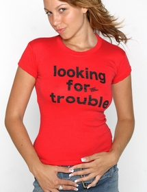 Looking For Trouble Girls Tee