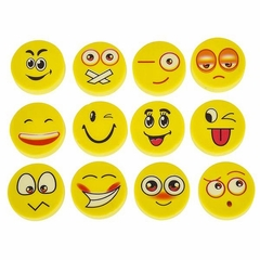 Lot Of 72 Assorted Round Emoji Face Erasers