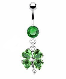Lucky Shamrock Navel Jewelry