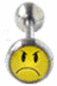 Mad Smiley Face Tongue Barbell