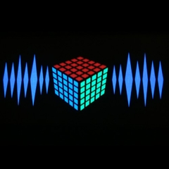 Magic Cube 3D Equalizer Rave T-Shirt With Sound Sensor