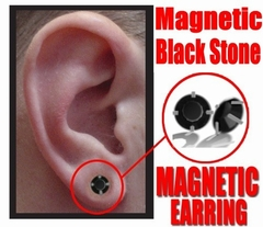 Magnetic Earrings - Black Onyx Pair of Magnetic Earrings