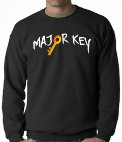 Major Key To Succes Emoji Key Adult Crewneck