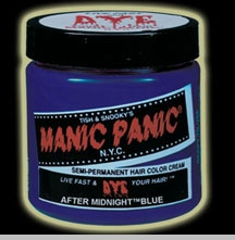 Manic Panic Hair Dye -  Midnight Blue Hair Color <!-- Click to Enlarge-->