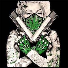 "Marijuana Monroe ""Gangster"" Men's T-Shirt"