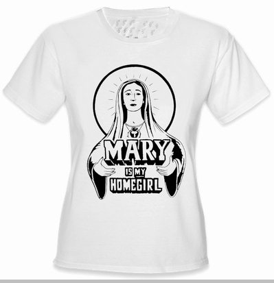 Mary Is My Home Girl Girls T-Shirt <!-- Click to Enlarge-->