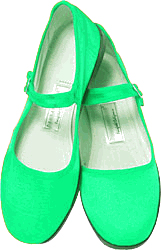 Mary Jane Cotton China Doll Slippers (Lt. Green)