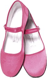 Mary Jane Cotton China Doll Slippers  (Lt. Pink)