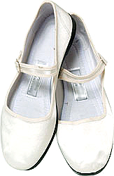 Mary Jane Cotton China Doll Slippers (White)
