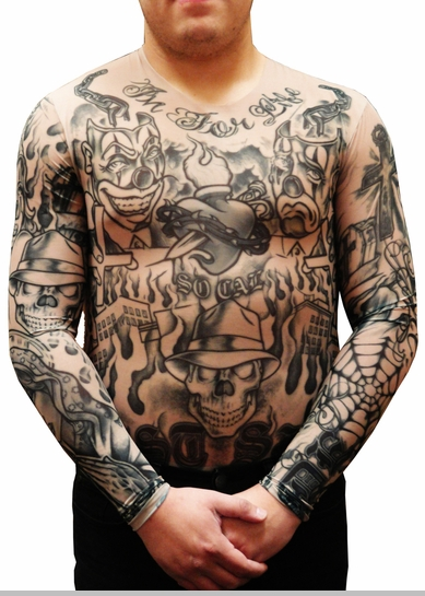Men's Full Body Tattoo Shirt - Prison Ink Full Body Tattoo Shirt<!-- Click to Enlarge-->