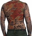 Men's Full Body Tattoo Shirt -  Full Body Tiger Tattoo Shirt