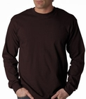 Mens Premium Long Sleeve T-Shirt (Chocolate Brown)