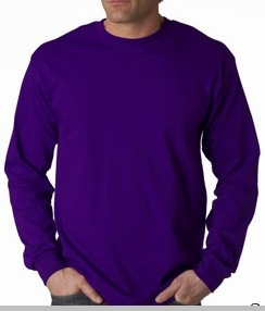 Mens Premium Long Sleeve T-Shirt (Purple)<!-- Click to Enlarge-->