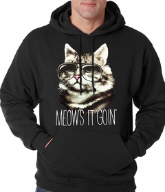 Meow's It Going Funny Cat Adult Hoodie