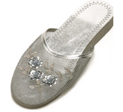 Mesh Chinese Slippers for weddings And Casual Wear (Silver)