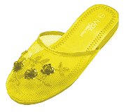Mesh Chinese Slippers for weddings And Casual Wear (Yellow)