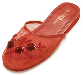 Mesh Chinese Slippers (Red)