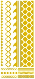 Metallic Flash Tattoos - Gold Beach Tribal