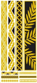 Metallic Flash Tattoos - Gold Leaf Tribal