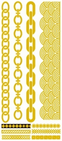 Metallic Flash Tattoos - Gold Link Shapes