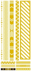 Metallic Flash Tattoos - Gold Tribal Shapes