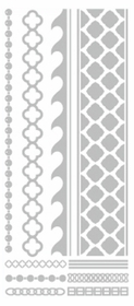 Metallic Flash Tattoos - Silver Beach Tribal