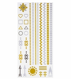 Metallic Flash Tattoos - Square and Triangle
