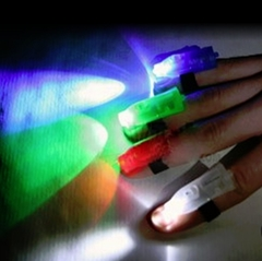 Micro Light LED Raver Rings (Set of 4)