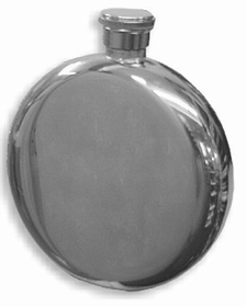 Mini 5oz. Round Steel Hip Flask