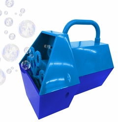 Mini Hand Held Battery Operated Bubble Machine (Blue)