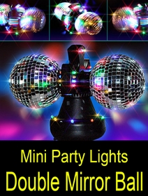Mini Party Lights Double Mirror Ball