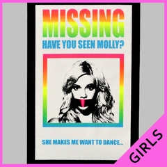 MISSING - Have You Seen Molly? Girl's T-Shirt
