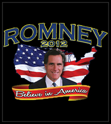 Mitt Romney Believe in America Men's T-Shirt