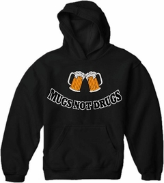 Mugs Not Drugs Mens Hoodie