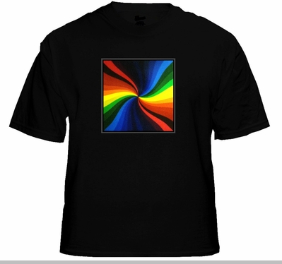 Multicolor Spiral EQ Sound Reactive T-Shirt<!-- Click to Enlarge-->