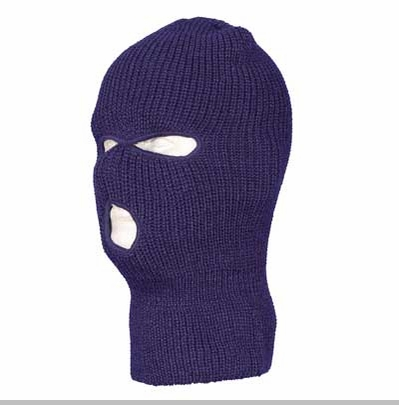 Navy Blue Warm Winter Ski and Face Mask<!-- Click to Enlarge-->