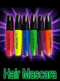 Neon Black Light Hair Mascara (Individual Colors)