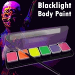 Global Colours Neon FX PRO Black Light Reactive Face & Body Paint Kit