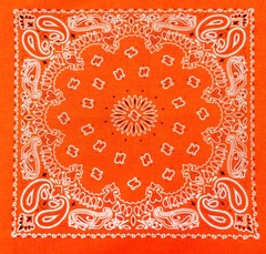 Neon Orange Bandana (Glows Under Black Light)