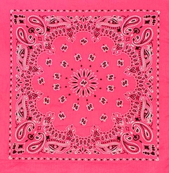 Neon Pink Bandana (Glows Under Black Light)