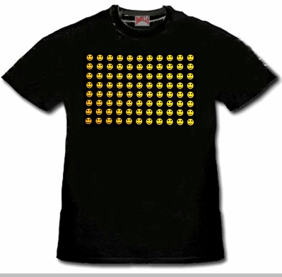New Raving Smileys T-Shirt With Ultra Sound Sensor<!-- Click to Enlarge-->