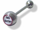 """No Entry"" Tongue Barbell"