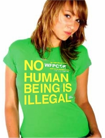 No Human Being Is Illegal Girls Tee