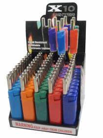 No More Burning Your Fingers Refillable Pipe Lighter (Box of 40)