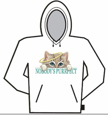 Nobody's Purrfect Hoodie<!-- Click to Enlarge-->