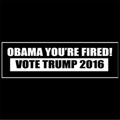 Obama You're Fired! Vote Donald Trump 2016 Mens T-shirt