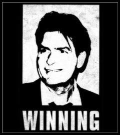 Official Charlie Sheen T-Shirt - Winning Photo Mens T-Shirt