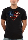 Official Distressed American Flag Superman Emblem Mens T-shirt